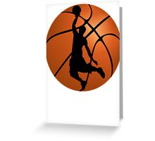 Basketball Dunk Silhouette Greeting Card