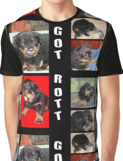 Rottweiler With Got Rott? Message Collage Graphic T-Shirt