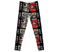 Rottweiler With Got Rott? Message Collage Leggings