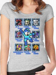 Mega Man NES Nintendo 8-Bit  Women's Fitted Scoop T-Shirt