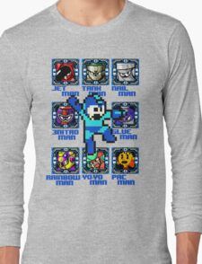 Mega Man NES Nintendo 8-Bit  Long Sleeve T-Shirt