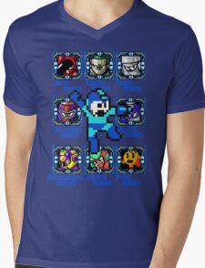 Mega Man NES Nintendo 8-Bit  Mens V-Neck T-Shirt