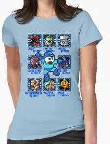 Mega Man NES Nintendo 8-Bit  Womens Fitted T-Shirt