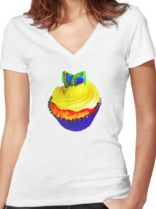 Cupcake - T Shirt Women's Fitted V-Neck T-Shirt