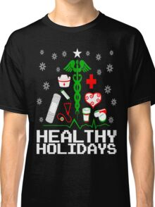 Healthy Holidays Nurse Tree Classic T-Shirt