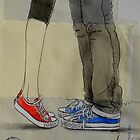 red, white and blue by Loui  Jover