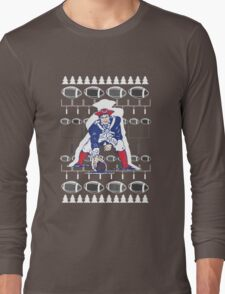 New England Patriots Ugly Holiday T-Shirt NFL Long Sleeve T-Shirt