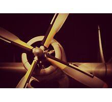 Vintage Plane Propellor Photographic Print