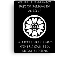 A Little Help From Others Can Be A Great Blessing - Iroh Quote Canvas Print