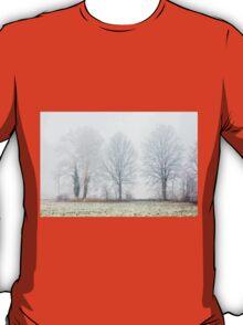 Foggy Winter Trees T-Shirt