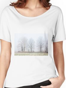 Foggy Winter Trees Women's Relaxed Fit T-Shirt