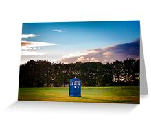 The TARDIS & sunset Greeting Card