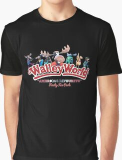 Walley World - All Characters logo America's Favourite Straight logo Graphic T-Shirt