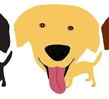 3 Labradors by Verene Krydsby