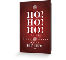 """Ho Ho Ho"" (Crimson) Christmas Card Greeting Card"
