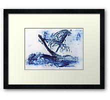 Ship on voyage Framed Print