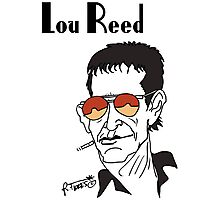 Lou Reed caricature Photographic Print