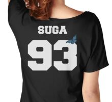 BTS- SUGA 93 Line Butterfly Jersey Women's Relaxed Fit T-Shirt