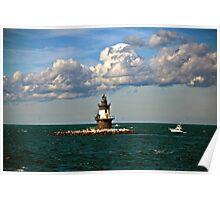 Plum Gut Lighthouse Poster