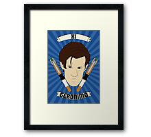 Doctor Who Portraits - Eleventh Doctor - Geronimo Framed Print