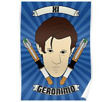 Doctor Who Portraits - Eleventh Doctor - Geronimo Poster