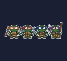 Mitesized Turtles One Piece - Long Sleeve