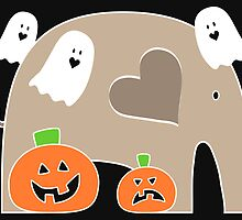 Happy Halloween Elephant by Elephant Love