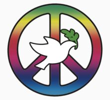 Peace Sign (With Dove of Peace) Kids Clothes