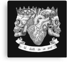 'Til Death Do Us Part, Life and Death Illustration Canvas Print