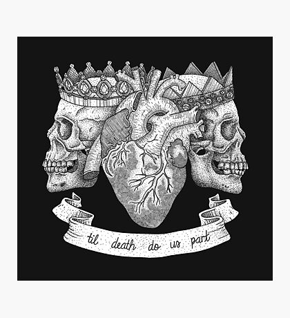 'Til Death Do Us Part, Life and Death Illustration Photographic Print