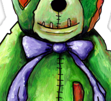 Green Zombie Bear Sticker