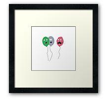 Ruptured balloon Framed Print