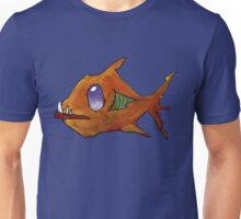 Orange Zombie Fish Unisex T-Shirt