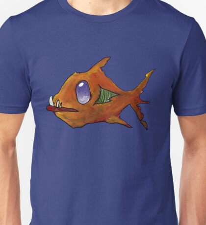 Orange Zombie Fish Unisex T-Shirt