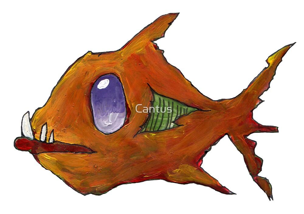 Orange Zombie Fish by Cantus