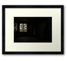 In the abandoned asylum Framed Print