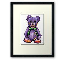 Purple Zombie Bear Framed Print