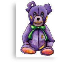 Purple Zombie Bear Canvas Print