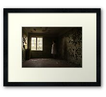 In the abandoned asylum (long exposure) Framed Print