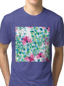 Watercolor floral pattern Tri-blend T-Shirt