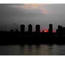 Fire Sky Across the River Photographic Print