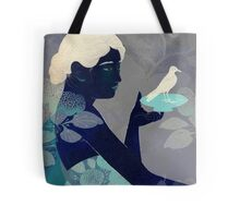 Bird on a plate Tote Bag