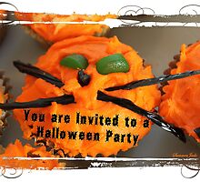 Zany Cat Halloween Party Invitation by SummerJade
