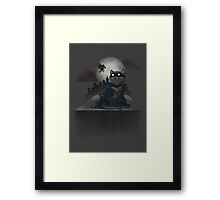 Cat Man and a Robin Framed Print