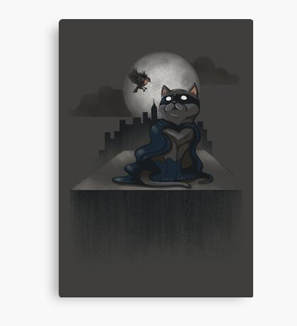 Cat Man and a Robin Canvas Print