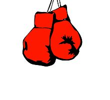 Red Boxing Gloves by kwg2200