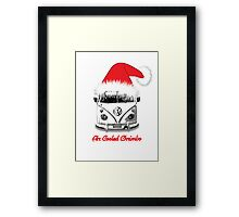 VW Camper Air Cooled Christmas Framed Print