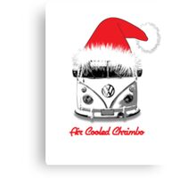 VW Camper Air Cooled Christmas Canvas Print