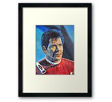 Shatner as Kirk in colored pencil  Framed Print