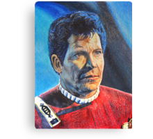 Shatner as Kirk in colored pencil  Canvas Print